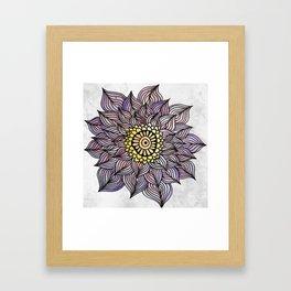 Purink Flower Framed Art Print