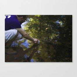 tadpole fishing Canvas Print