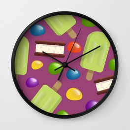 Lime Pops & Jelly Beans Wall Clock
