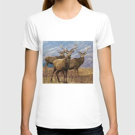 The four stags on the loch T-shirt