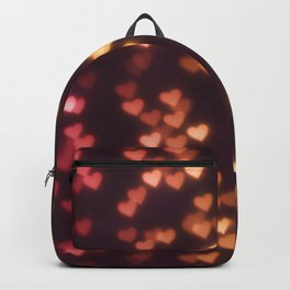Hearts Bokeh Pattern Backpack