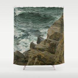 Bernd Lindholm - View of the Kattegat - Sacandinavian Fine Art Oil Shower Curtain