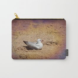 Gull on sand Carry-All Pouch