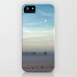 Snow, mist and moon iPhone Case