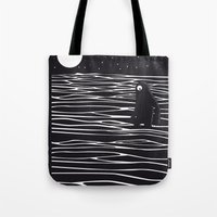 scary Tote Bags featuring Scary monster! by SpazioC