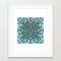 snowflake Framed Art Prints featuring Snowflake by Lyle Hatch