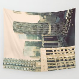 Chicago River Marina Tower Color Photo Wall Tapestry