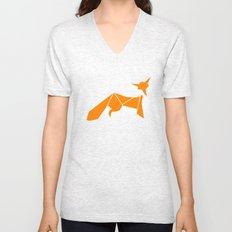 Origami Little Fox Unisex V-Neck