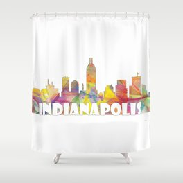 Indianapolis Indiana  Skyline MCLR 2 Shower Curtain
