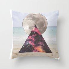 cosmic beach Throw Pillow