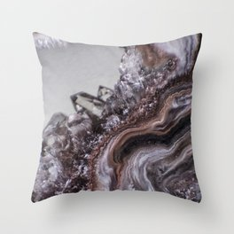 Tiny Agate and crystals Throw Pillow