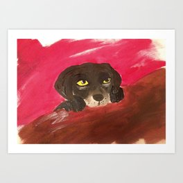 Jake, the Baby Labrador Art Print