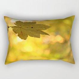 Twinkling Leaf Lights Rectangular Pillow