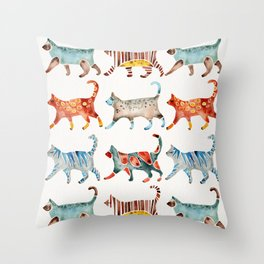 Cat Collection: Watercolor Throw Pillow