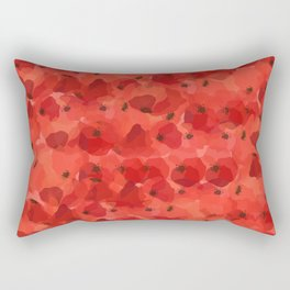 FIELD OF POPPIES Rectangular Pillow