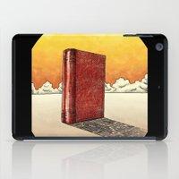literature iPad Cases featuring Literature Heavy book by gunberk
