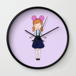 Summer Fan Girl 2 Wall Clock