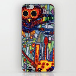 Owls Over The Stock Exchange iPhone Skin