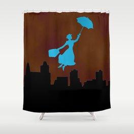 Firey Miss Poppins  Shower Curtain