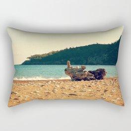 Rocks On The Wood Rectangular Pillow