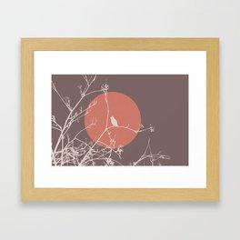 Bird on a branch 2 Framed Art Print