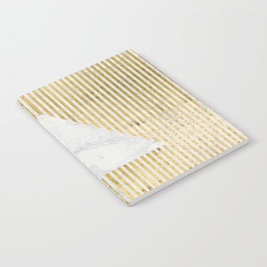 inverse trian gold Notebook
