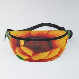 Orange Wildflower Fanny Pack