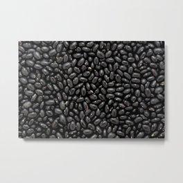 Black turtle beans Metal Print
