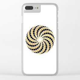 BLACK AND GOLD TORUS circular sacred geometry Clear iPhone Case