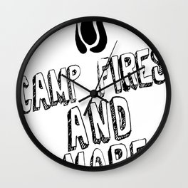 Camp Fire And Smores Wall Clock