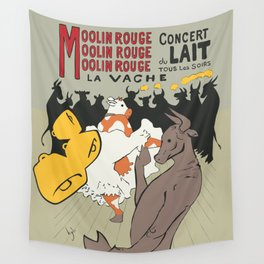 Moolin Rouge - This Cow Can Can Can Wall Tapestry