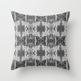 B&W Open Your Eyes Patterned Image Throw Pillow