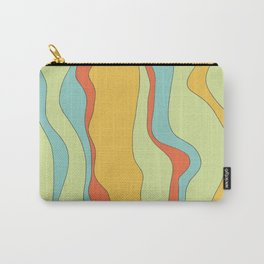 Curly lines of colour pattern Carry-All Pouch