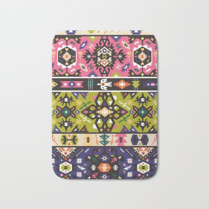 Fancy abstract geometric pattern in tribal style Bath Mat