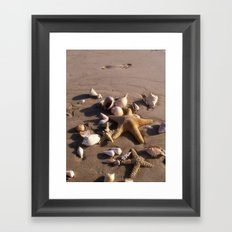Romantic Beach Framed Art Print