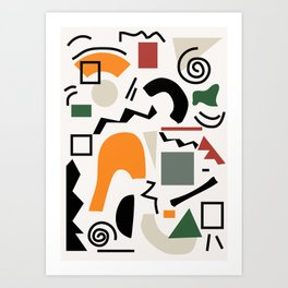 Shapes 5 Art Print