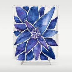 Aloe Vera – Navy Palette Shower Curtain