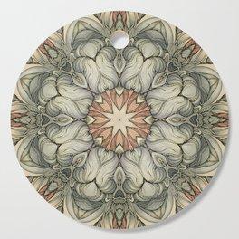 abstract flowers hand drawn and  kaleidoscope mandala Cutting Board