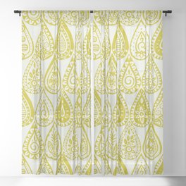 Indian raindrops chartreuse Sheer Curtain