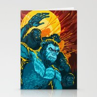 planet of the apes Stationery Cards featuring Dawn Of The Planet Of The Apes by KD Artwork