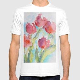 Tulips (watercolor) T-shirt