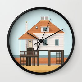 Beach house 3 Wall Clock