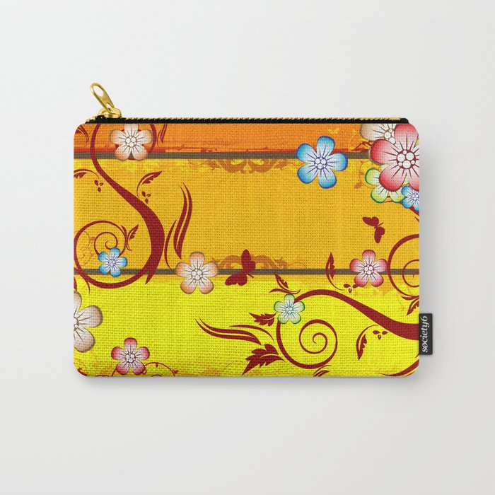 Colorful Florals Carry-All Pouch