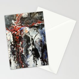 Red Cross on Black and White Stationery Cards