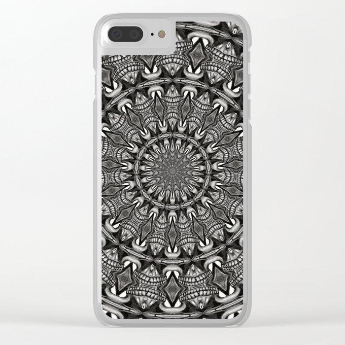 Monochrome Mandala Clear iPhone Case
