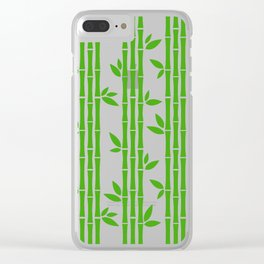 Evergreen Chinese Bamboos Clear iPhone Case