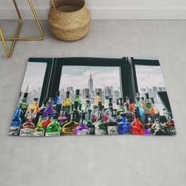 Aperitifs in New York Landscape Painting Rug