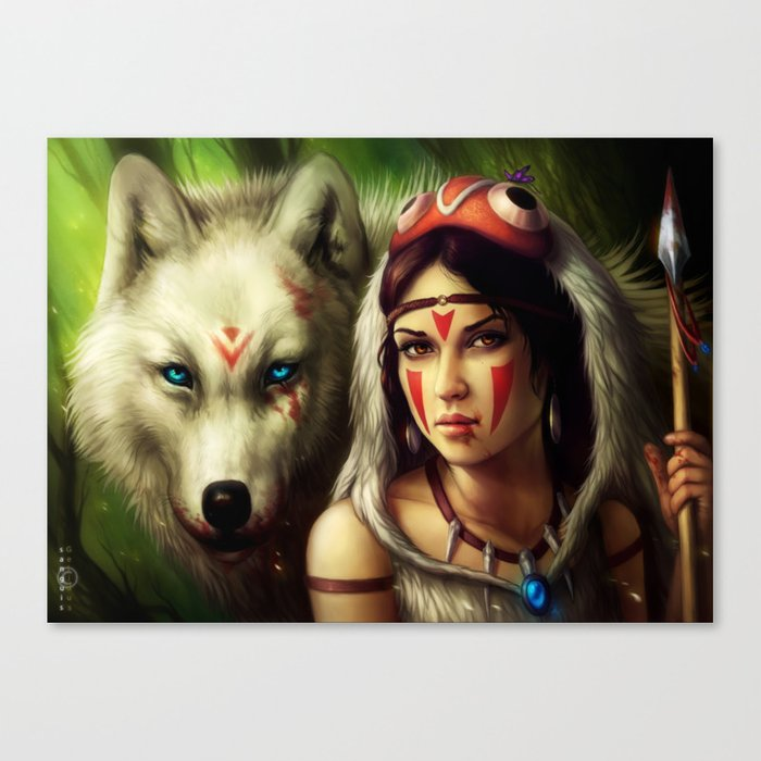 """Princess Mononoke"" Canvas Print"