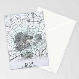 Oss, Netherlands, City Map Stationery Cards