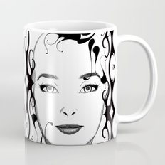 Black and white face ornament Mug